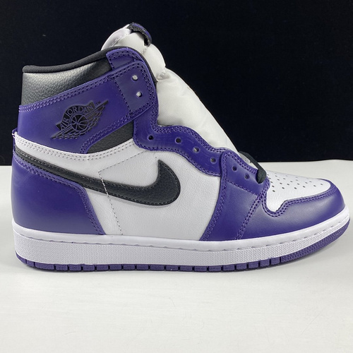 Air Jordan 1 High 东莞白紫AJ 紫加哥白紫葡萄脚趾配色 575441-500_ljr版本