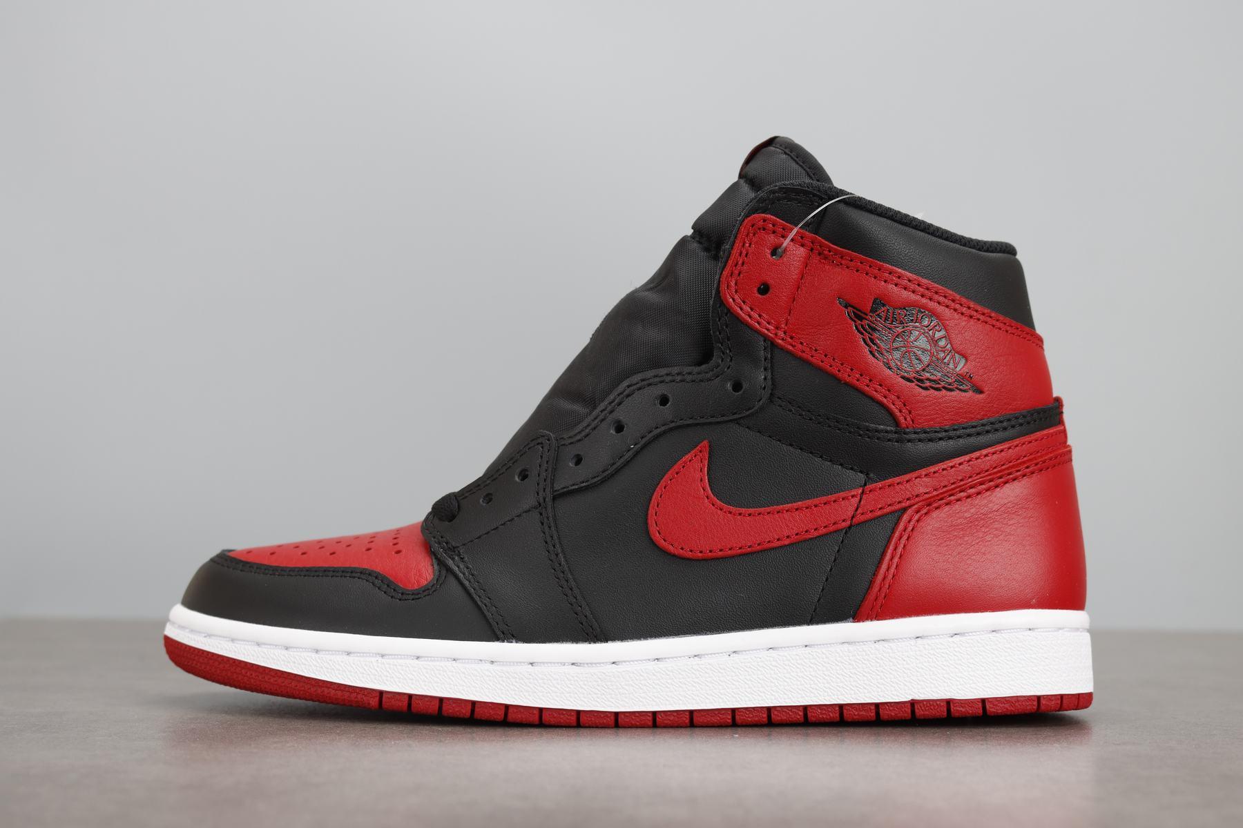 LJR版本 Air Jordan 1 Retro OG AJ1黑红禁穿 乔1 555088-001_ljr版本和h12