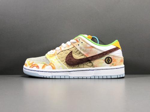 "【GOD版:DUNK】Nike SB Dunk Low Pro QS""Street Hawker""食神鸳鸯,货号CV1628-800_莆田god版本鞋是什么意思"