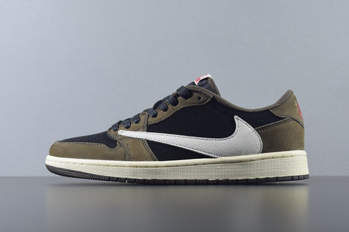 【G5版低帮】Travis Scott x Air Jordan 1 Low AJ1倒勾低帮 篮球鞋 CQ4277-001_椰子 G5 KO PK