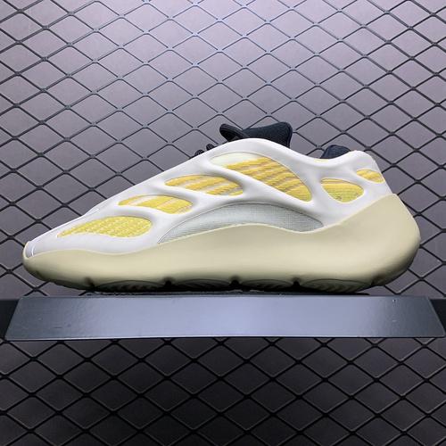 Yeezy 700V3  Srphym 侃爷椰子夜光鞋面异型复古老爹鞋 G54853_椰子500真假对比黑色