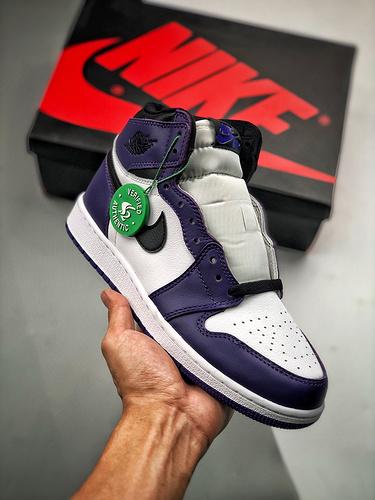 Air Jordan 1 Retro 白紫 市场最强GS女鞋_s2纯原是什么意思