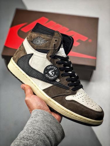 ravis Scott X Air Jordan 1 倒钩 CD4487-100_ow 莆田鞋吧