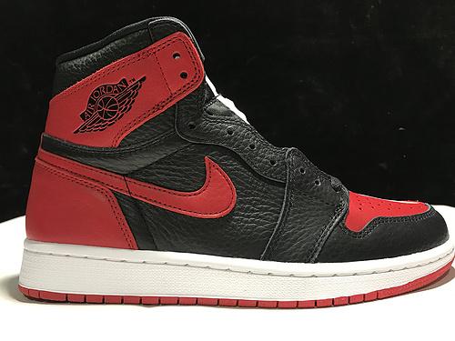 """莞顶阴阳小丑 Air Jordan 1 Homage To Home"""" 黑红 阴阳 鸳鸯拼接 861428-061_ljr版本和正版"""