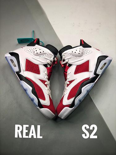 Air Jordan 6 Retro Carmine胭脂 S2原装对比图