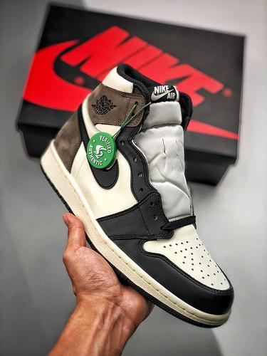 "Air Jordan 1 Retro ""Dark Mocha"" 小倒钩/摩卡咖啡色 货号:555088-105_莆田鞋最高版本一般什么价位"