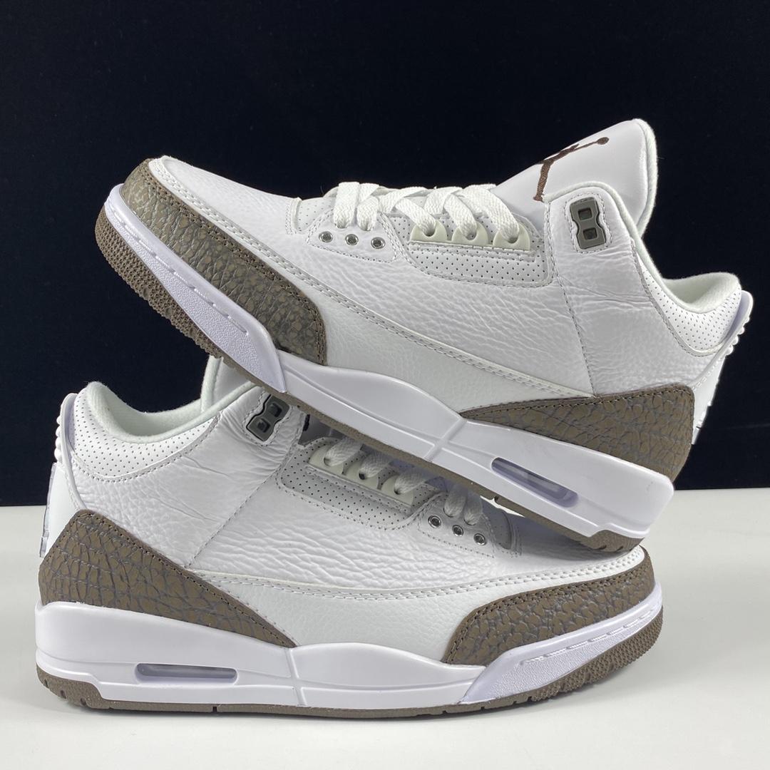 """莞顶L Air Jordan 3 RetroMocha迈克尔·乔丹AJ3代中帮复古休闲运动文化篮球鞋""""黑白棕摩卡咖啡""""136064-122_aj鞋性价比和ljr版本"""