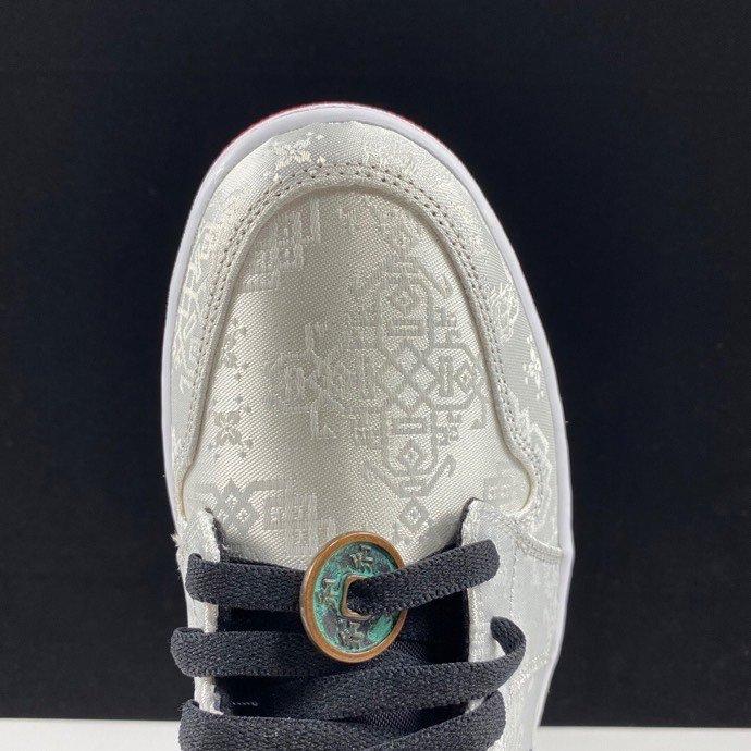 LJR版本'Fearless' 丝绸铜钱 AJ1Mid白丝绸货号CU2804-100_ljr的版本在哪里买