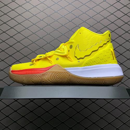 灭世纯原_欧文_KYRIE 5 x SpongeBob 欧文5代海绵宝宝联名款篮球鞋 CJ6951-700_ljr是莆田吗