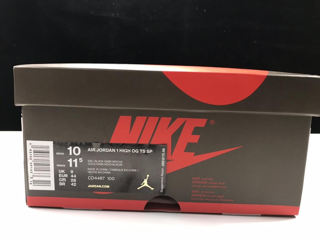 东莞LJR版:AJ1倒钩高帮   莞产 Air Jordan 1 RETRO HI OG 货号:CD4487-100_怎么看是不是ljr版本