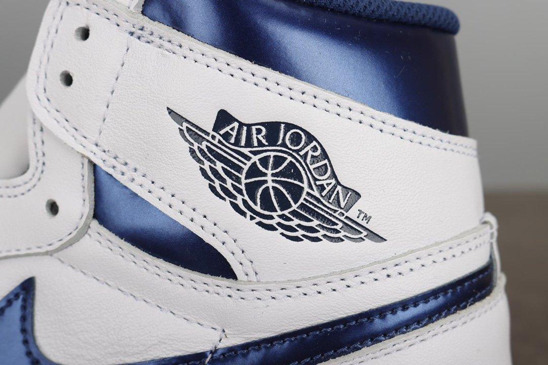 Air Jordan 1 Retro OG High Metallic Navy海军蓝 555088-106_鞋ljr是什么版本