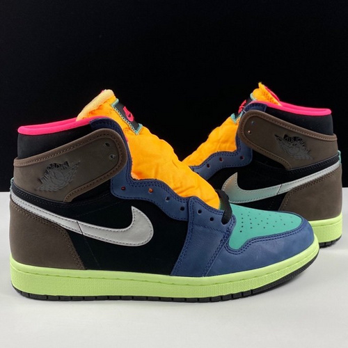 "Air Jordan 1 High OG ""Bio Hack"" 酷似天价 UNDFTD 联名 LJR彩色拼接 生物黑客配色 555088-201_莆田god版本鞋做的怎么样"