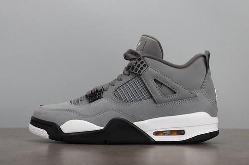 """LJR版本 Air Jordan 4""""Cool Grey"""" AJ4 酷灰 灰老鼠 篮球鞋 308497-007_ljr版本的椰子"""