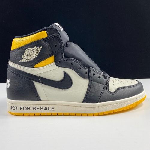 "aj1禁止黑黄LJR版本Air Jordan 1 Retro OG High ""Not for Resale""裕三厂虎扑高几黑黄脚趾禁止倒卖配色 861428-107_莆田god版本鞋是什么意思"