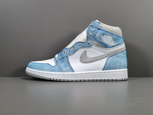 "【GOD版:乔1】 水洗白蓝 Air Jordan 1 Retro High OG""Hyper Royal""货号:555088-402_莆田god版"