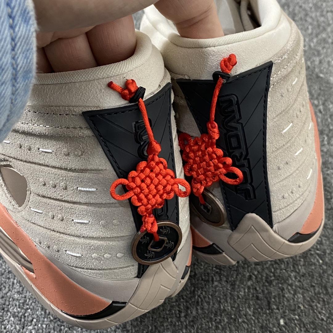 东莞L AJ14 兵马俑 中国结 铜钱 陈冠希兵马俑联名 货号:DC9857-200 CLOT x Air Jordan 14 Low_莆田god版本鞋做的怎么样