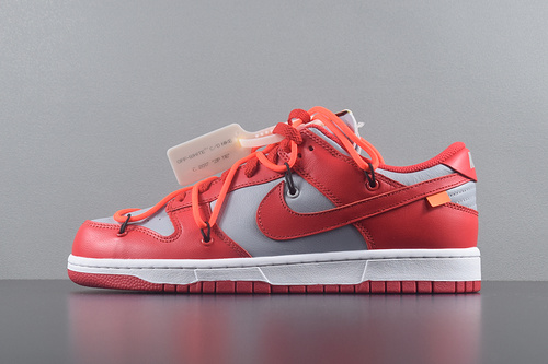 OFF-WHITE X NIKE DUNK LOW PINE GREEN OW联名 灰红 CT0856-600_买椰子G5发真爆