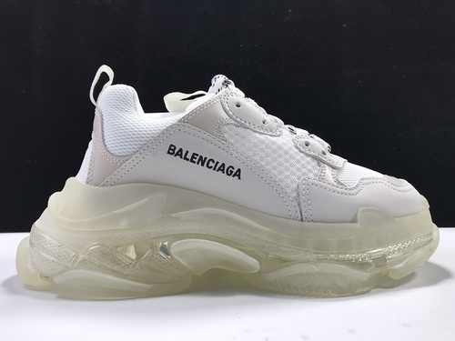 【意产版:巴黎复古】 白色气垫  Balenciaga Tripe-S 巴黎世家复古老爹鞋_莆田god版鞋子