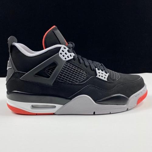 """莞顶L版本 Air Jordan 4""""Bred"""" 2019 Black Infrared Nike 钩子屁股 黑红配色 308497-060_莆田god版本"""