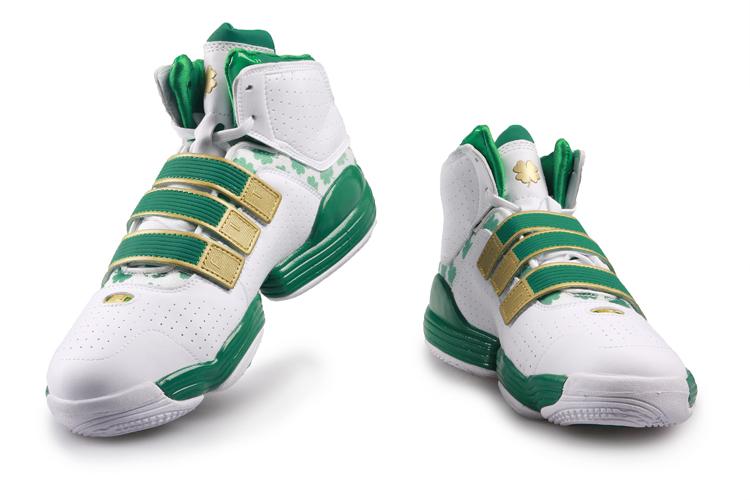 2010新款特价正 品阿迪达斯adidas霍华德3代NBA篮球鞋男式 白绿金