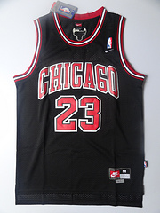 NBA 网眼球衣 公牛队 23号 乔丹 黑色