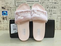 真标高品质彪马拖鞋PUMA蕾哈娜联名彪马拖鞋粉色3545