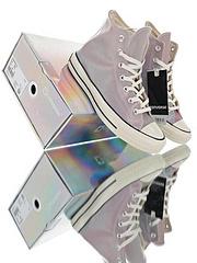 匡威联名变色龙七彩果冻ConverseChuckTaylorAllStar1970S联名变色龙板鞋鞋身应用了台湾进口5D变色材质抗寒耐磨在自然光下面不同角度就可以呈现出多种的