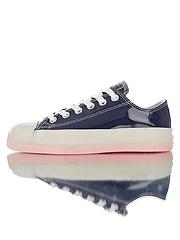 新款上市女鞋原厂手工冷硫工艺区别市面一体模具版本遵循原滋原味处理道序小JW来了夏季果冻透明色系匡威ChuckTaylorAllStarGlow1970sOX经典改良冷硫技