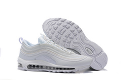 耐克NikeAirMax97系列百搭复古气垫慢跑鞋全白3126410044046