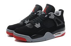 乔丹4代超级A 黑红男女鞋 厂家直销 专柜货 原标 36-46篮球鞋 现货