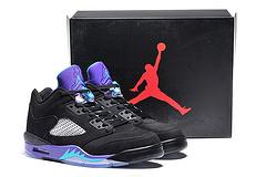 乔丹5代 原装真标 篮球鞋 男鞋40-46 黑葡萄紫
