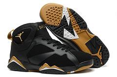 乔丹7代 超级A 篮球鞋 黑金 41--47 钢印驻胶孔