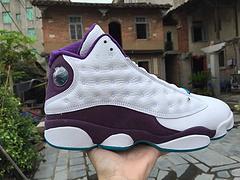 乔丹13代篮球鞋 原装真标 白紫男鞋41-47