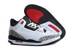 乔丹3代 白/黑/红 男鞋 41-47