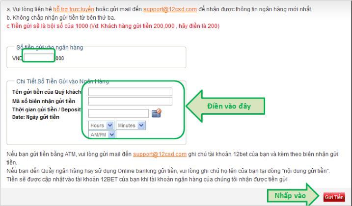 Lưu trình gửi tiền đến 12BET.com SI9vI