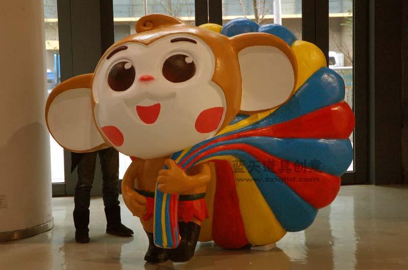 名称:泡沫雕塑卡通猴子.制作材料:泡沫.使用领域:杭州展会.制作日期:2012年3月.
