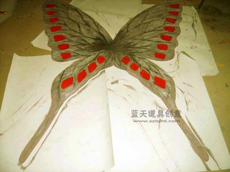 名称:蝴蝶翅膀.制作材料:复合材料.使用领域:cos秀.制作日期:2010.
