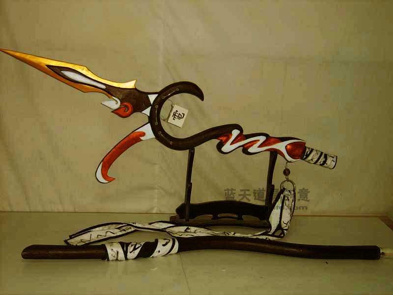 名称:cos道具剑.制作材料:木.使用领域:杭州动漫节.制作日期:2011.
