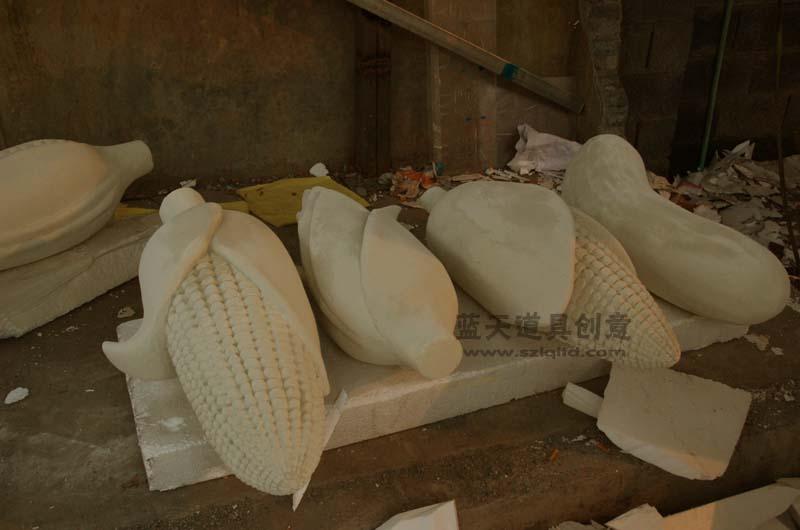 名称:泡沫雕塑粮食农作物.制作材料:泡沫.使用领域:温州.制作日期:2011.