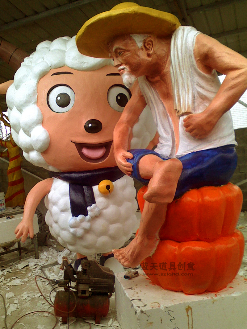 名称:园林泡沫雕塑布景.制作材料:泡沫.使用领域:温州瑞安雅林园林.制作日期:2011.