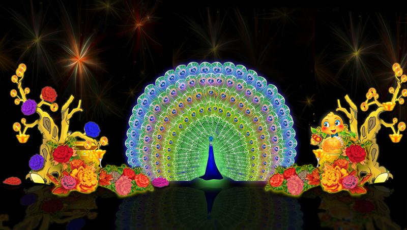 元宵节彩灯牌楼图片2013年蛇年元宵节花灯彩灯春节花灯彩灯设计图稿施工制作