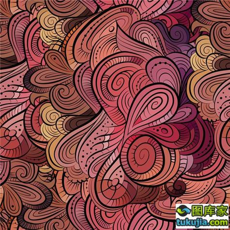 抽象花纹 花纹背景 抽象背景 绚丽花纹 时尚花纹 哥特底纹 矢量411