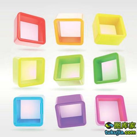 晶体设计 立体设计 立体图标 立体背景 3D图形 矢量413