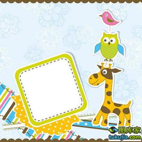 卡通背景 儿童卡通 卡通动物 卡通动漫 童话世界 儿童漫画 矢量608