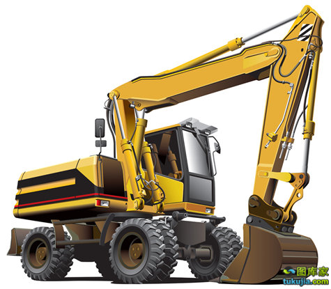 light-brown excavator