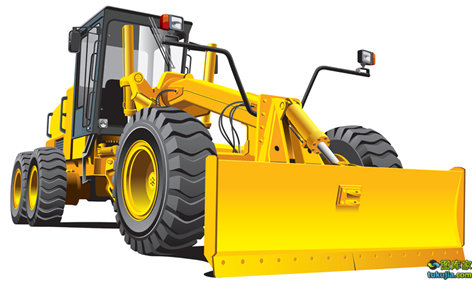 yellow roadgrader