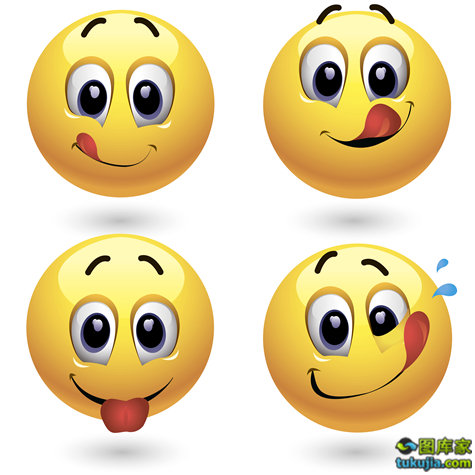 卡通笑脸 头像 卡通头像 表情 卡通表情 矢量180 图库家