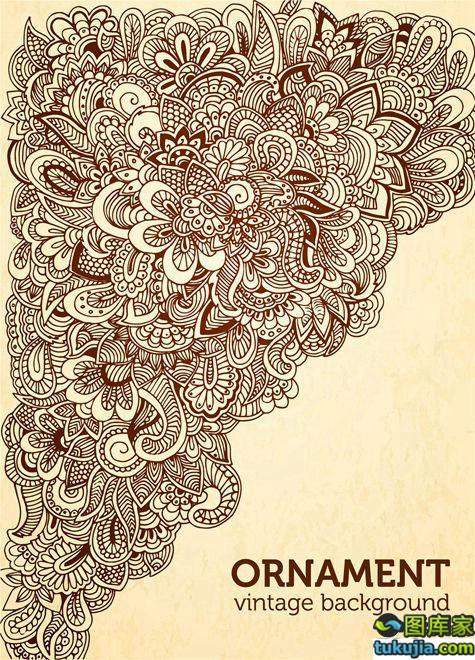 花纹背景 花纹图案 花纹设计 抽象花纹 背景图案 矢量312