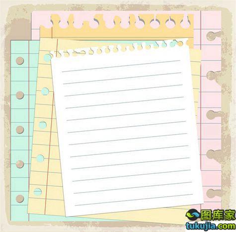 便签 便条 纸张 记事本 纸张设计 日记本 白纸 矢量317