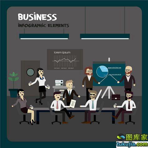 商务人士 商务白领 上班族 商务设计 商务图片 办公室 矢量320